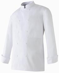 Veste cuisinier blanche 100 coton 34 au 60 molinel for Cuisinier bras