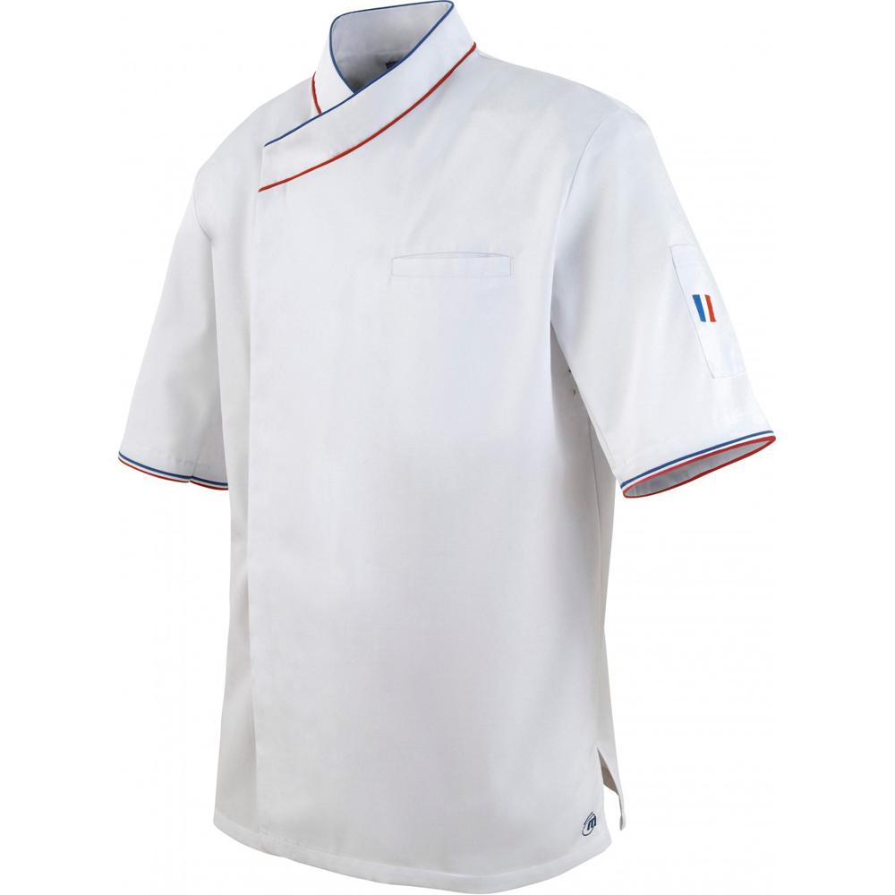 Vestes de cuisine manches courtes homme for Achat veste de cuisine